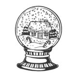 Domowa szklana sfery rytownictwa wektoru ilustracja royalty ilustracja