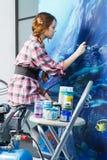domowa wewnętrzna malarza obrazu praca Fotografia Stock