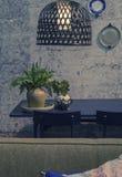 Domowa wnętrza i struktury ściana Zdjęcia Royalty Free