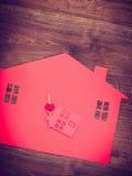 Domowa wycinanka z kluczami Fotografia Stock