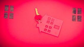 Domowa wycinanka z kluczami Obrazy Stock