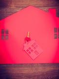 Domowa wycinanka z kluczami Zdjęcie Stock