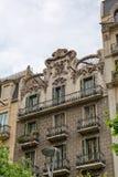 Domowe fasady w Barcelona, Hiszpania Obraz Stock