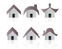domowe ikony Zdjęcia Royalty Free