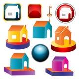 domowe ikony ilustracja wektor
