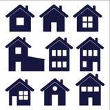 Domowe ikony Zdjęcia Stock