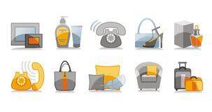 domowe ikony określonych podróży Zdjęcia Stock