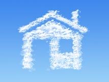 Domowe kształt chmury Fotografia Stock