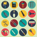 Domowe remontowe ikony inkasowe Obraz Stock