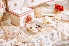 Domowe tkaniny Różnorodne poduszki i bedspreads Zdjęcie Stock