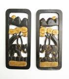 Domowe wystrój rzeczy, rzeźbiący słoni talerze, używać dla wiszących ścian zdjęcia stock
