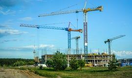 Domowego budynku budowy w Vilnius Zdjęcie Royalty Free