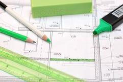 Domowego budynku plan Zdjęcia Royalty Free