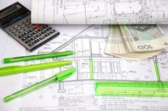 Domowego budynku plan Zdjęcie Stock