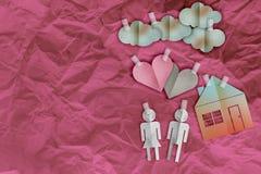 domowego cukierki domu symbolu papieru rodzinny cięcie Obraz Royalty Free