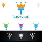 Domowego obrazu królewiątka loga Wektorowy projekt Fotografia Stock