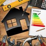 Domowego ulepszenia pojęcie - wydajność energii ilustracja wektor