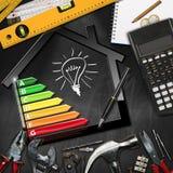 Domowego ulepszenia pojęcie - wydajność energii royalty ilustracja