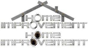 Domowego ulepszenia symbol z metal przekładniami ilustracja wektor