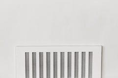 Domowej bezpieczeństwa powietrza wentylaci wentylaci bielu ściany plastikowa rama Fotografia Royalty Free