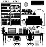 domowej biblioteki biurowy soho wektor Obraz Royalty Free