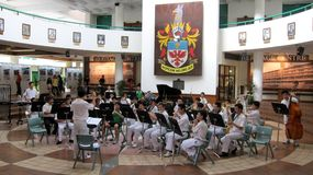 domowej instytuci otwarty raffles ri Zdjęcie Royalty Free