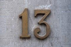 13 domowej liczby zdjęcie stock