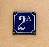 Domowej liczby 2A biel i błękit Obrazy Stock