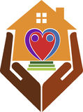 Domowej opieki logo ilustracja wektor