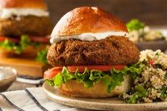 Domowej roboty Śródziemnomorski Falafel hamburger zdjęcia stock