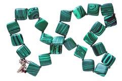 Domowej roboty żeńscy koraliki zrobią placu czerwonego gładki zielony malac zdjęcie royalty free