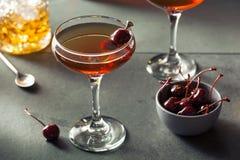 Domowej roboty żyto bourbon Manhattan obrazy stock