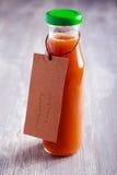 Domowej roboty agrestowy ketchup w butelce Fotografia Stock