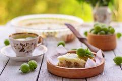Domowej roboty agrestowy kulebiak Zdjęcia Stock