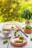 Domowej roboty agrestowy kulebiak Zdjęcia Royalty Free