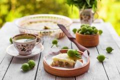 Domowej roboty agrestowy kulebiak Fotografia Royalty Free