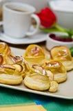 Domowej roboty applie ciastka obraz stock