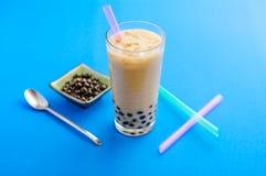 Domowej roboty bąbla mleka herbata Zdjęcie Royalty Free