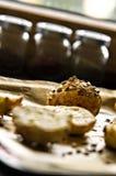 Domowej roboty babeczki z słonecznikowymi ziarnami Zdjęcie Royalty Free