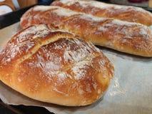 Domowej roboty Baguette chleb obraz stock