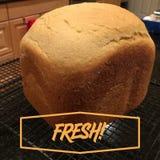 Domowej roboty całej banatki chleb Fotografia Royalty Free