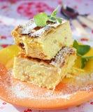 Domowej roboty chałupa sera pudding Zdjęcia Stock