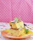 Domowej roboty chałupa sera pudding Zdjęcie Royalty Free