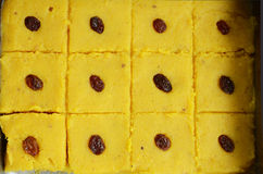 Domowej roboty chana dal burfi - tradycyjny indyjski cukierki Obraz Royalty Free