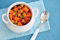 Domowej roboty Chickpea batata curry obraz stock