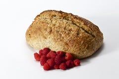Domowej roboty chleb i malinka Obraz Royalty Free