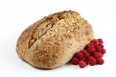 Domowej roboty chleb i malinka Obrazy Royalty Free