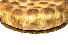 domowej roboty chleb Odosobniony biały tło Obrazy Stock