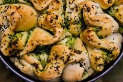 Domowej roboty chleb z cebuli i pikantności jedzenia fotografią Zdjęcia Stock