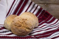 Domowej roboty chleb z mlekiem Zdjęcia Stock